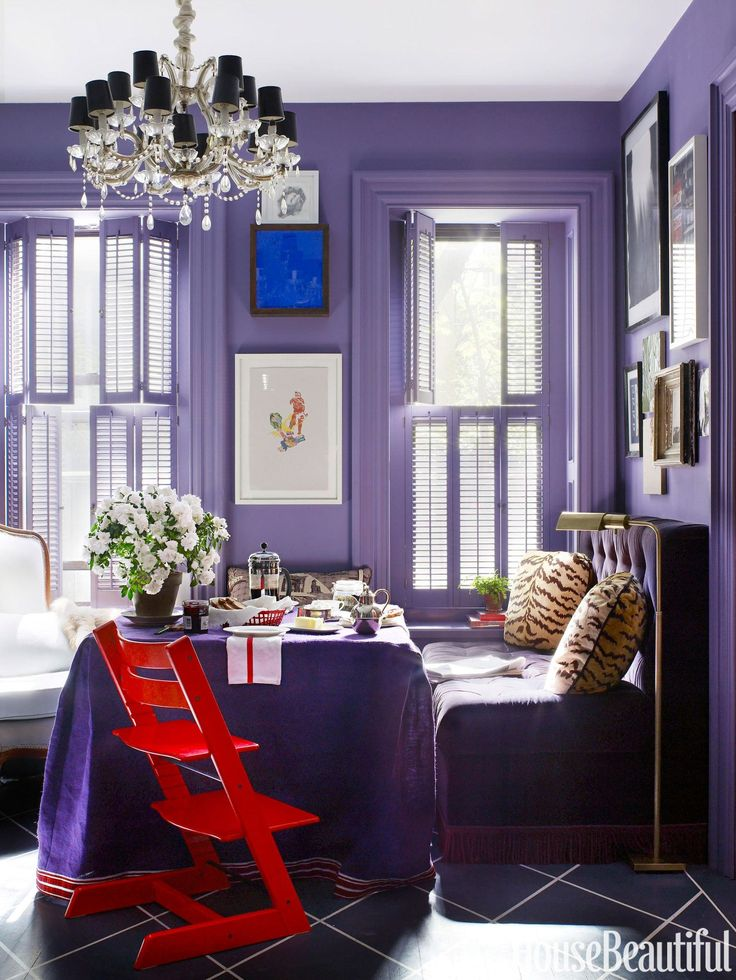 Purple Banquette