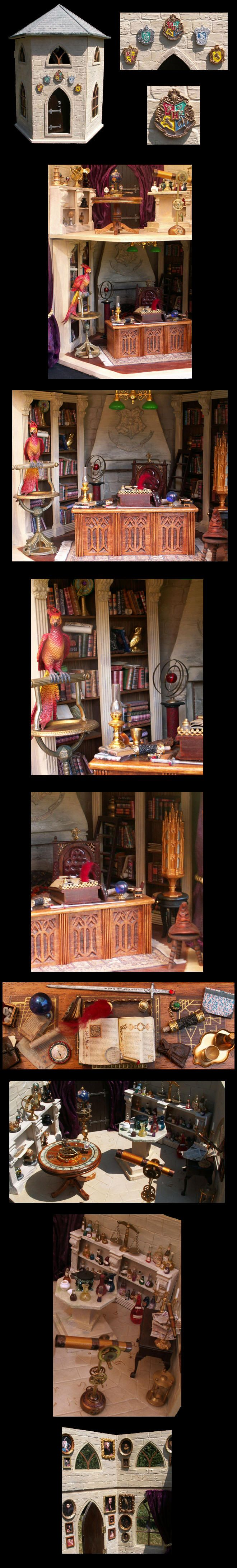 I have this doll house kit, and I also decorated with a Harry Potter theme, though mine looks a bit feeble compared to this one!