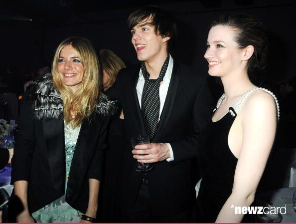 Sienna Miller, Nick Hoult and Tallulah Riley attend the afterparty following the ELLE Style Awards 2009 in association with H&M, at Big Sky London on February 9, 2009 in London, England. (Photo by Dave M. Benett/Getty Images)