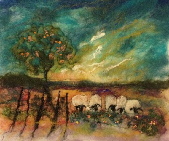 Irish felted art On a Summer's Eve by OlannAlainnArts on Etsy