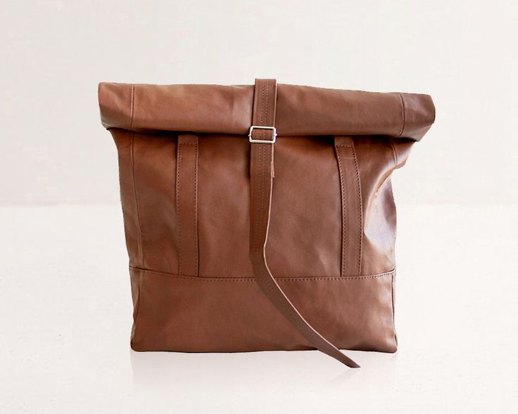 SMALL Backpack - Wanderlust Rolltop - Brown Vegan Leather Backpack and Tote Bag, Everyday Carry All City Vacation Bag. Faux Leather Handbag by LeeCoren on Etsy https://www.etsy.com/listing/256265767/small-backpack-wanderlust-rolltop-brown