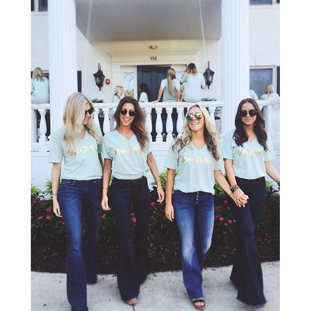 Alpha Delta Pi | ADPi | Gold Foil Design | Recruitment | Sisterhood | Bid Day | South by Sea | Greek Tee Shirts | Greek Tank Tops | Custom Apparel Design | Custom Greek Apparel | Sorority Tee Shirts | Sorority Tanks | Sorority Shirt Designs