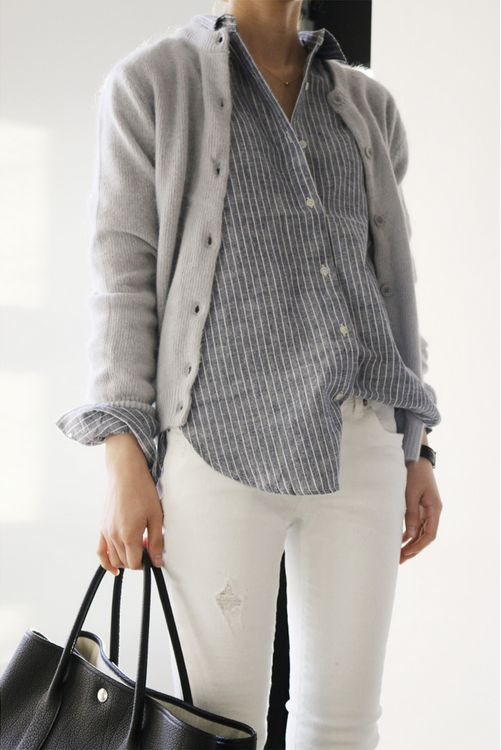 Soft grey for spring. Death by elocution, via modern and classy