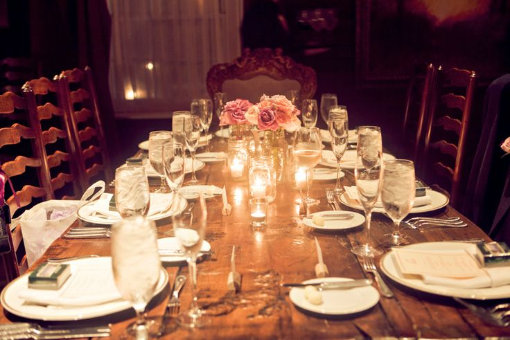 Wonderful Dinner Party Wedding Part - 10: A Sweet Savannah Wedding   Rustic Wooden Table, Party Wedding And Wedding  Bells