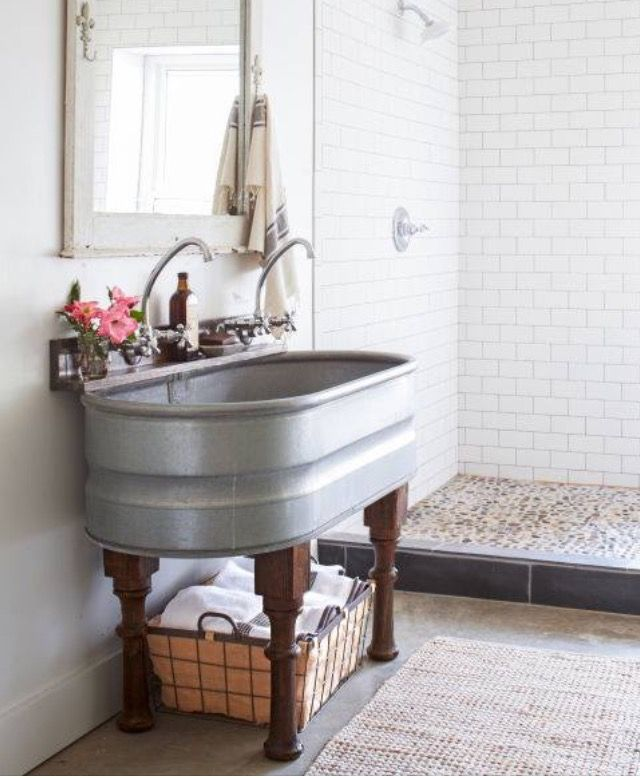 Would love this in a laundry room | Home Ideas | Pinterest | Home, Home Decor and Bathroom
