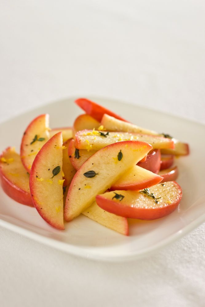 Skillet Apples with Lemon and Thyme - Click for Recipe