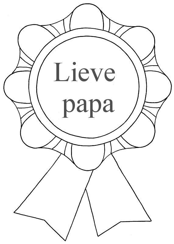 Kleurplaat Papa 40 Jaar