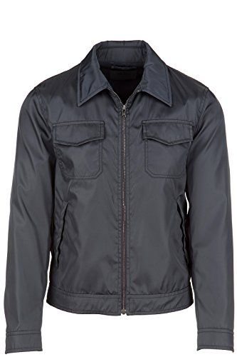 PRADA Prada Men'S Nylon Outerwear Jacket Blouson Blu. #prada #cloth #