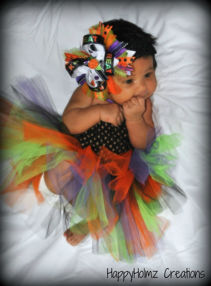 Halloween TuTu Dress, Baby's First Halloween TuTu, Infant Halloween Costume, Ready to Ship. $18.00, via Etsy.