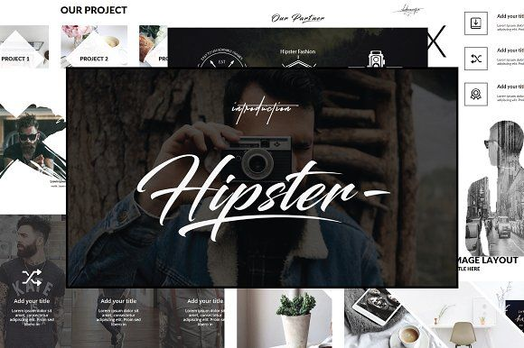 Hipster v.2 Powerpoint Template by onestudio on @creativemarket