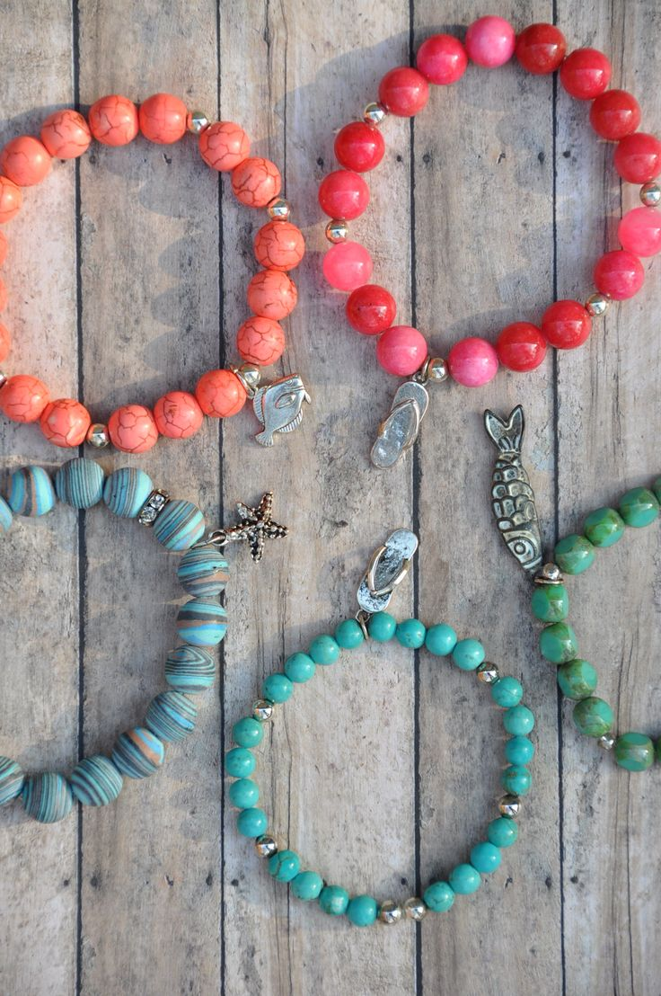 Check out Spring/Summer beaded bracelets at www.etsy.com/shop/BeadRustic