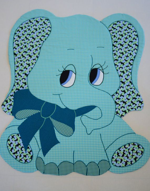 Elephant    Vintage Quilt Pattern for:  Baby Quilts, Comforters,  Wall Hanging, Security Blankets, TV Rugs, Appliques for Quilts and spreads