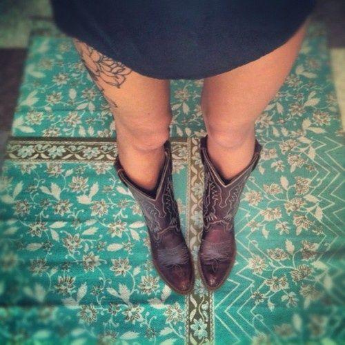 Tattoo Ideas Upper Leg: 25+ Best Ideas About Cowboy Boot Tattoo On Pinterest