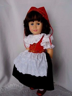 CHATTY CATHY RARE Brunette Soft Face Pigtail  NORWAY DRESS TALKS FREE SHIPPING
