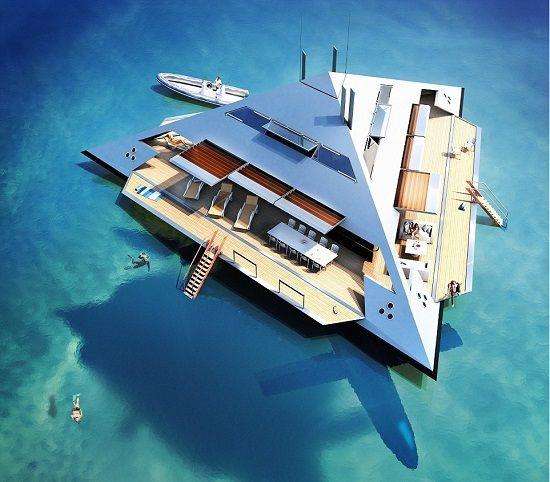 Arquiteto cria iate em forma de pirâmide que 'levita' sobre o mar | RedeTV! Em rede com você.