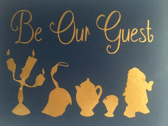 This canvas reads: Be our guest This canvas measures: 8 x 10 11 x 14 16 x 20 **Customize size is available! Prices will adjust accordingly! *You
