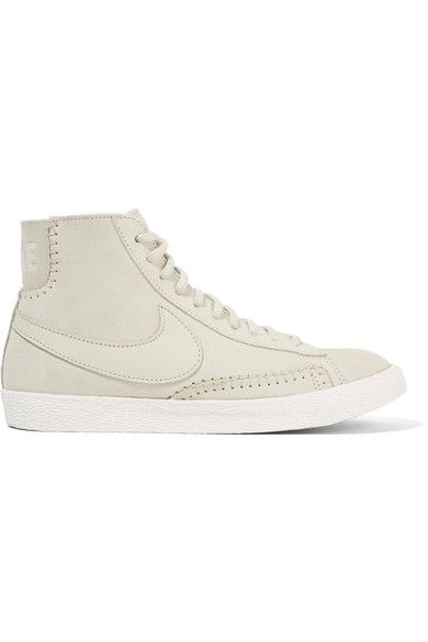 Nike | Blazer Mid suede and shearling high-top sneakers | NET-A-PORTER.COM