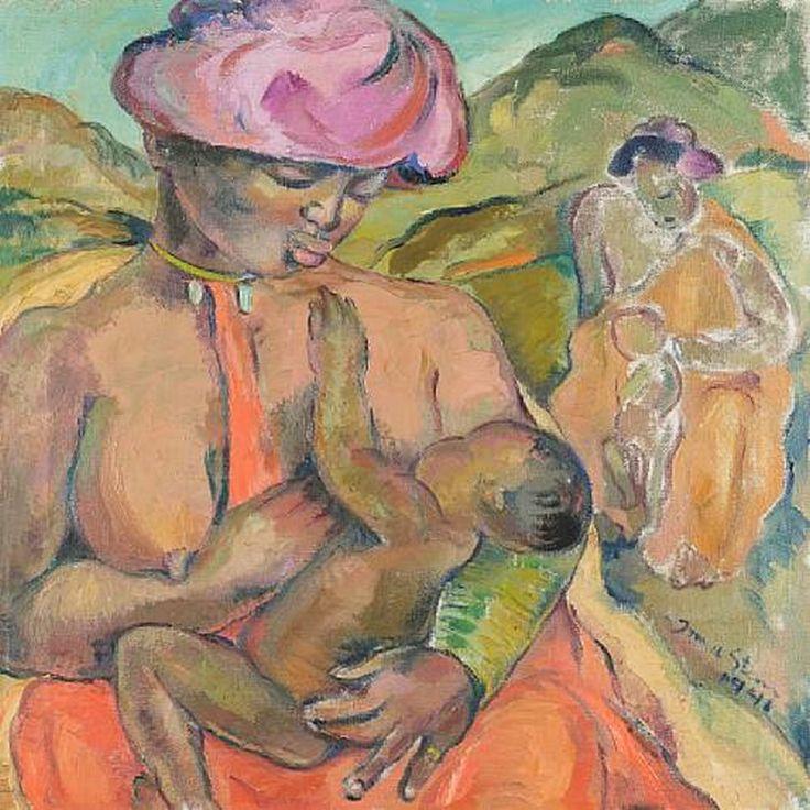 Irma Stern - Pondo Mother and Child