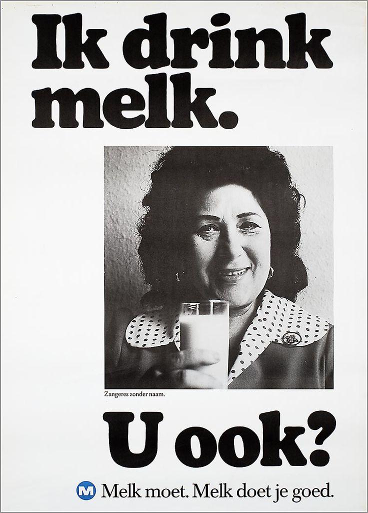 Ik drink melk. Zangeres zonder naam. U ook? M Melk moet. Melk doet je goed.