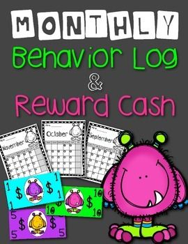 FREE! Class Dojo Behavior Calendar. Use as a log to communicate Dojo points to parents. Great for parents who do not have internet access. Reward cash included!