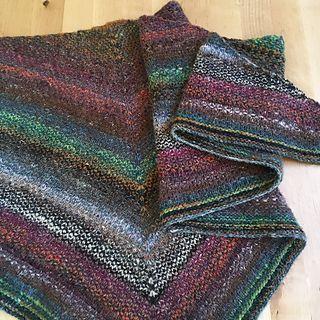 Noro woven stitch shawl