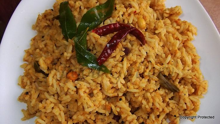 #Tamarind #rice, #puliyodharai -- one of the popular traditional South Indian recipes and is a complete #meal by itself