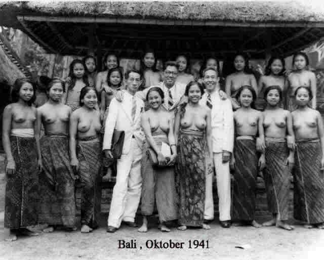 Balinese women at school in the old days... happy teachers!