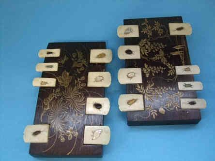 A Pair Of Meiji Period Whist Markers