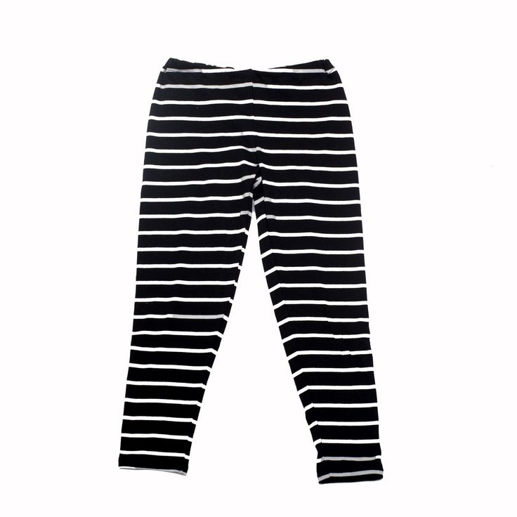 summer leggings black white stripes