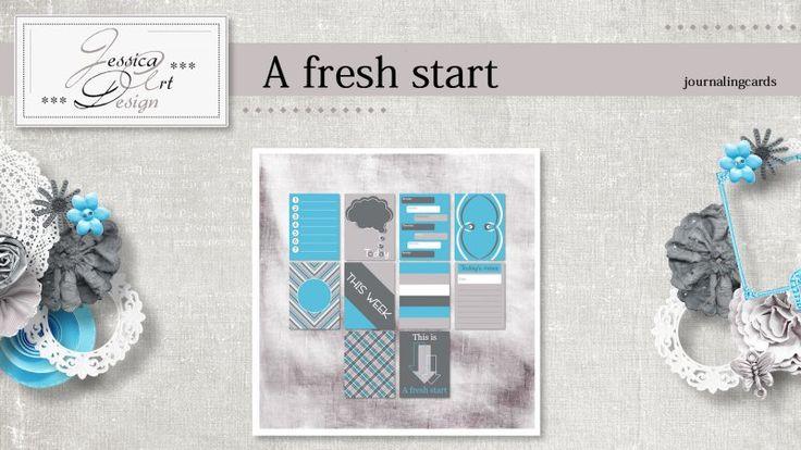 A fresh start journalingcards by Jessica art-design