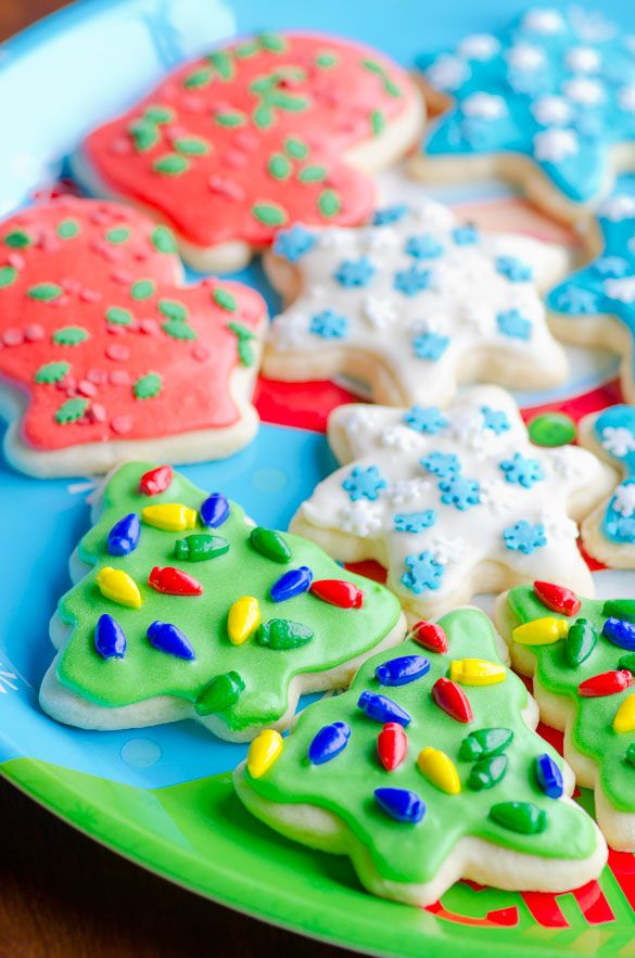Soft Sugar Cookie Cut Outs for Christmas - holds perfect shape and an easy icing recipe included!