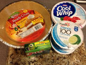 Weight Watchers Key Lime Pie Recipe (or use your favorite flavor of yogurt with same flavor of Jell-o)