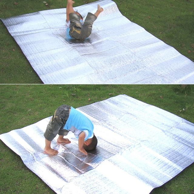 Waterproof Aluminum Foil EVA Camp Mat Foldable Picnic Sitting Mat Pad