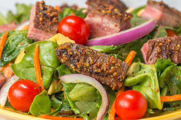 Get Spicy With This Spice-Rubbed Flank Steak Salad