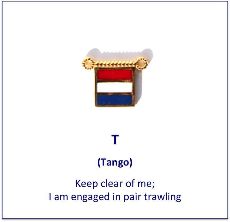 T (Tango) signal flag charm