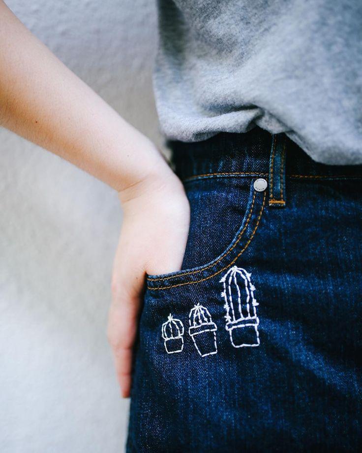 DIY pocket embroidery