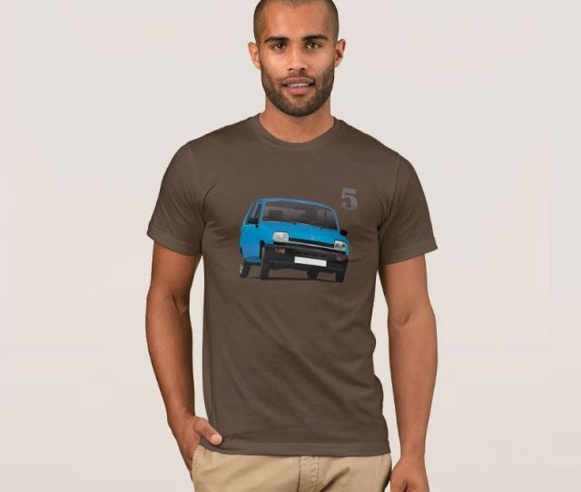 Renault 5 (phase 1) t-shirts.  #renault #renault5 #renaultr5 #automobile #france #french #shirt #classiccars #illustrations #carillustration #70s #80s #car #blue