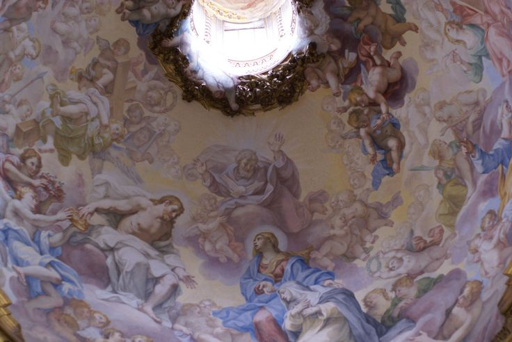 Rom, Santa Sabina, Kapelle der hl. Katharina von Siena, Kuppel, Fresko von Giovanni Odazzi (Chapel of St. Catherina of Siena, dome, fresco by Giovanni Odazzi) | Flickr - Photo Sharing!