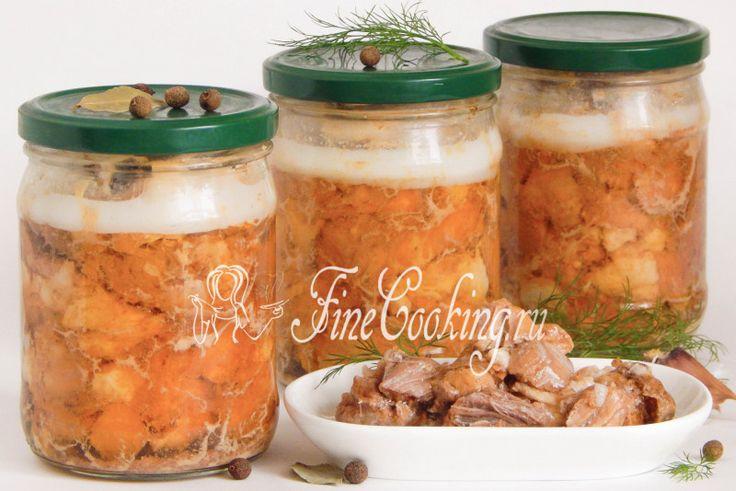 Домашняя тушенка из свинины - рецепт с фото