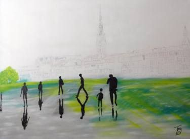 "Saatchi Art Artist Nicole Theresia Spitzwieser; Painting, ""walk through Bordeaux"" #art"