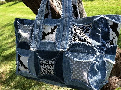 seeshellspace: Jeans and Windows - A free tote pattern