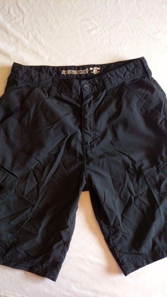 Realtree Men's Swim Shorts Black Size 32 100% Nylon #Realtree #Cargo