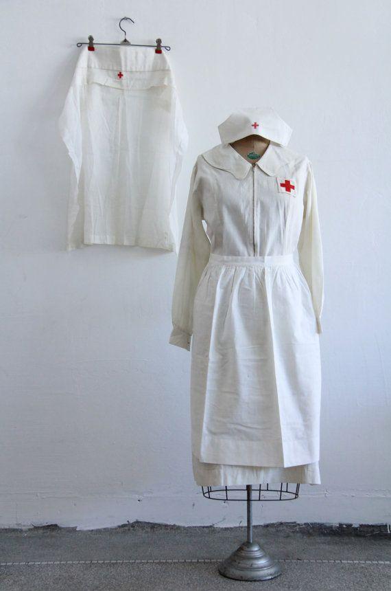 WWI Red Cross Nurse Uniform  1910s  World War One by VeraVague, $600.00
