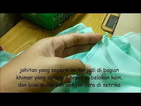 Teknik Menjahit Khimar / Jilbab / Kerudung - YouTube