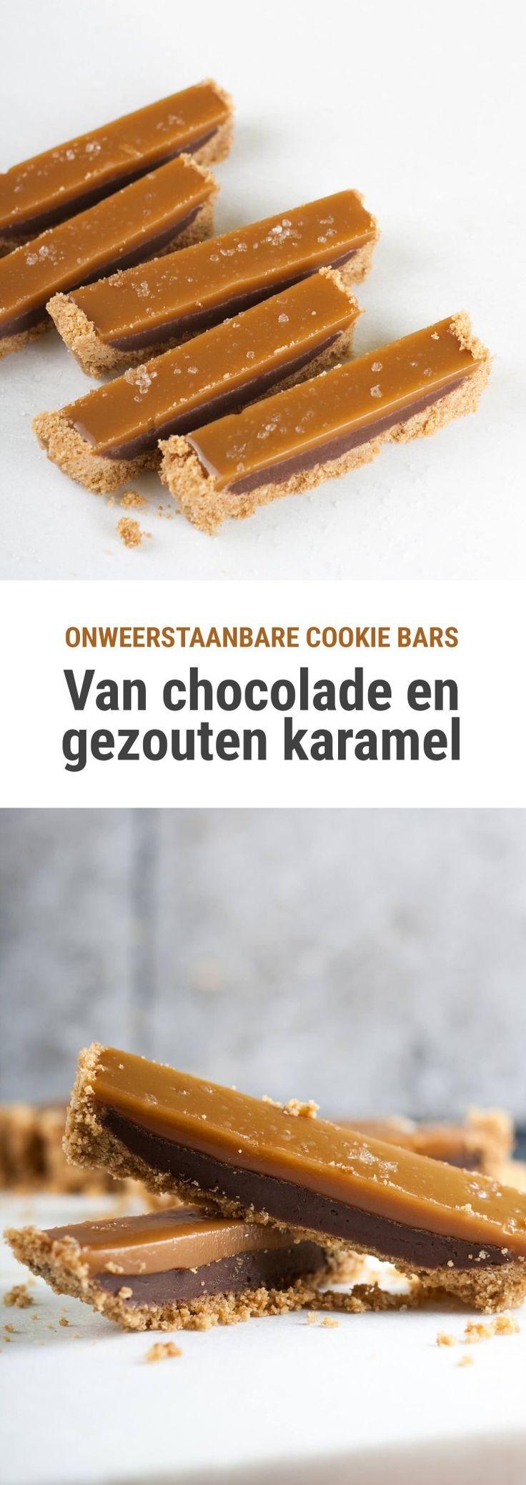 Rezept für No-Bake-Riegel aus Schokoladenfondant und gesalzener Karamellschicht ….   – jam jam
