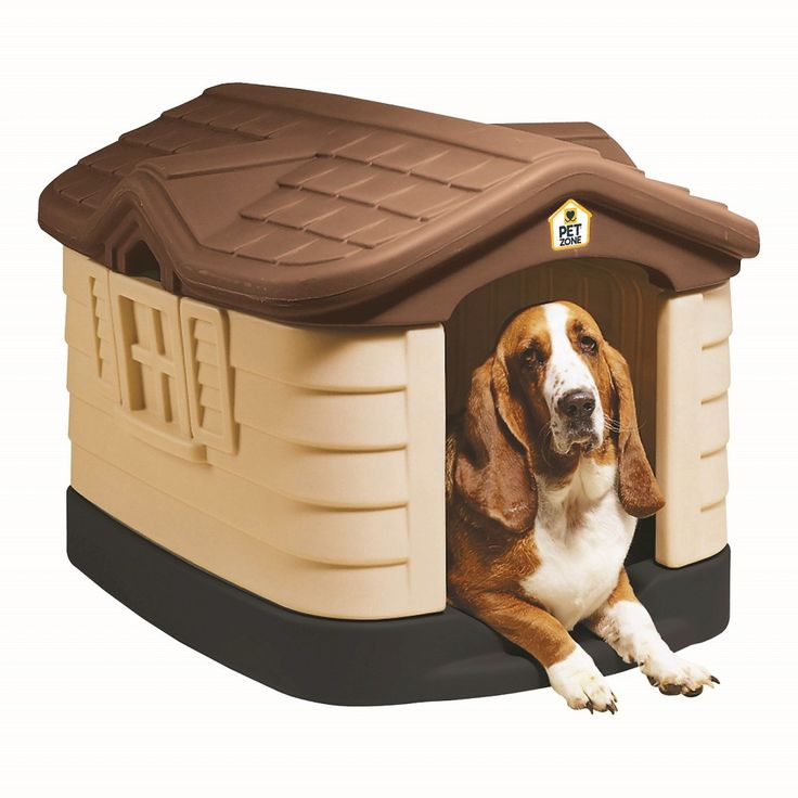 Pet Zone Cozy Cottage Dog House 24H Brown, Plastic