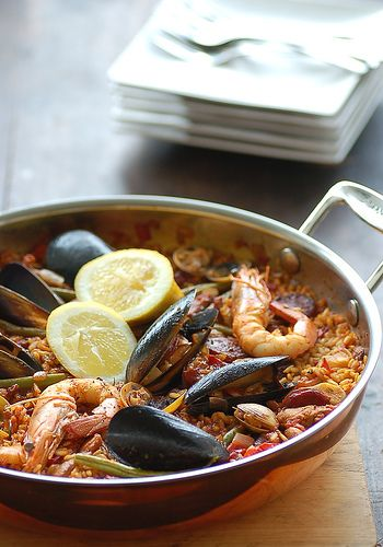 Paella - my favourite dish of all times. One day I'll be able to make it myself.