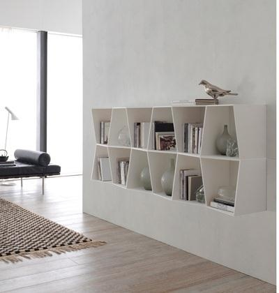 Wavy Hanging Bookcase from Alivar