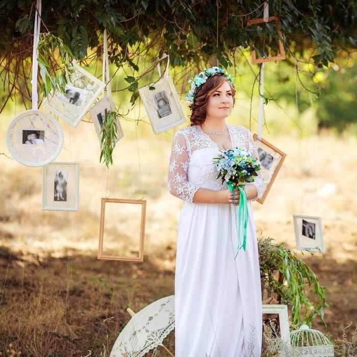 Hochzeit Verstorbene Gedenken Bilder am Baum