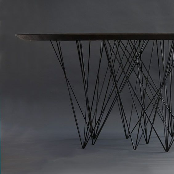 17 meilleures id es propos de tables m talliques sur pinterest meubles en acier soudure et. Black Bedroom Furniture Sets. Home Design Ideas